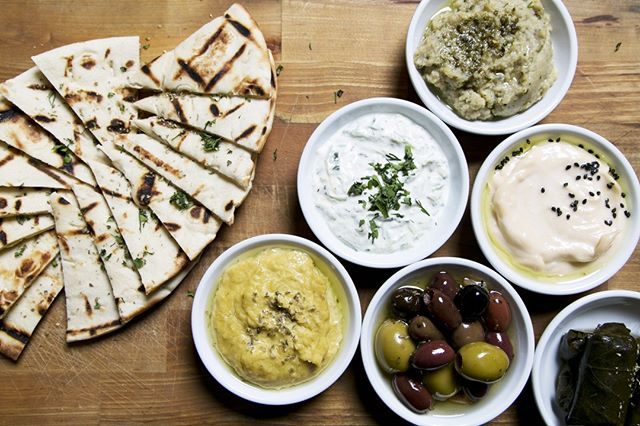 Get started with the Mezze Platter packed with tzatziki, taramasalata, hummus & eggplant dip with marinated olives, dolmades & pita bread. 😍 Available for lunch + dinner! #civichotel #sydneycbd #sydneyeats