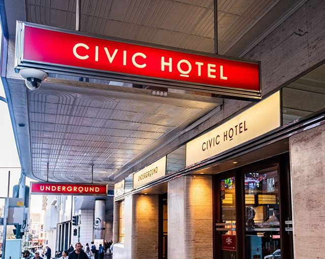Happy Monday! Just look for the red CIVIC Hotel sign @ 388 Pitt Street Sydney & we will see you soon 💃 🕺