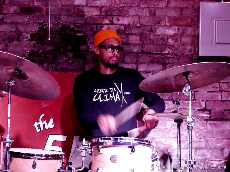 Playing drums with @thnx4listening in Atlanta, Ga. ( Photo by    Unknown Vincent   )