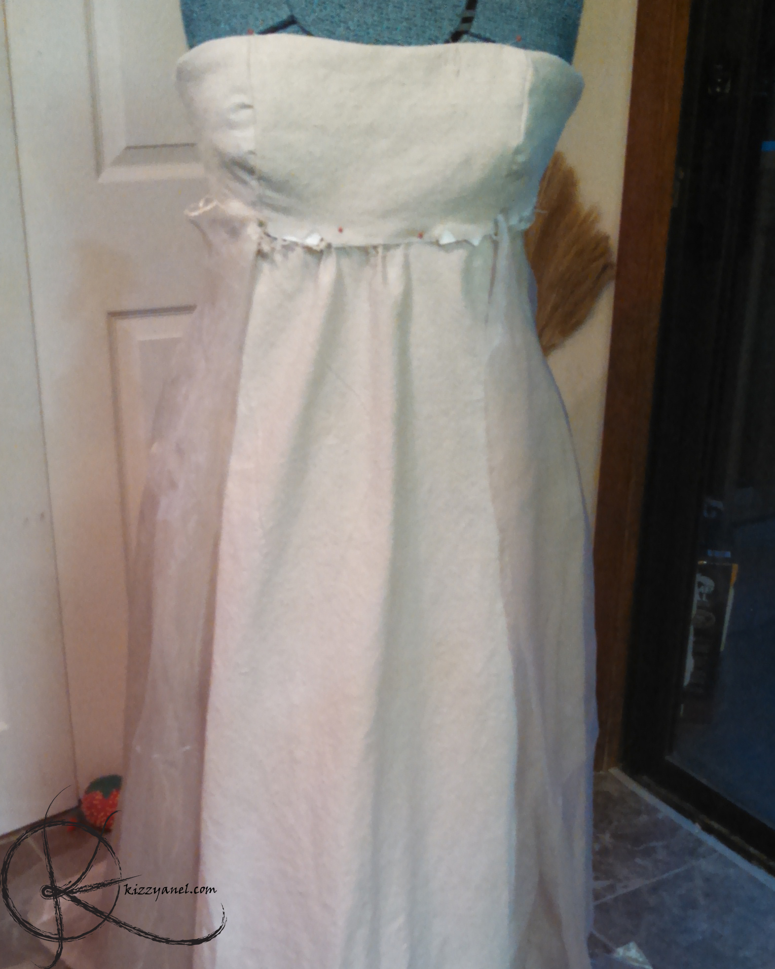 WIP dress with overlay skirt