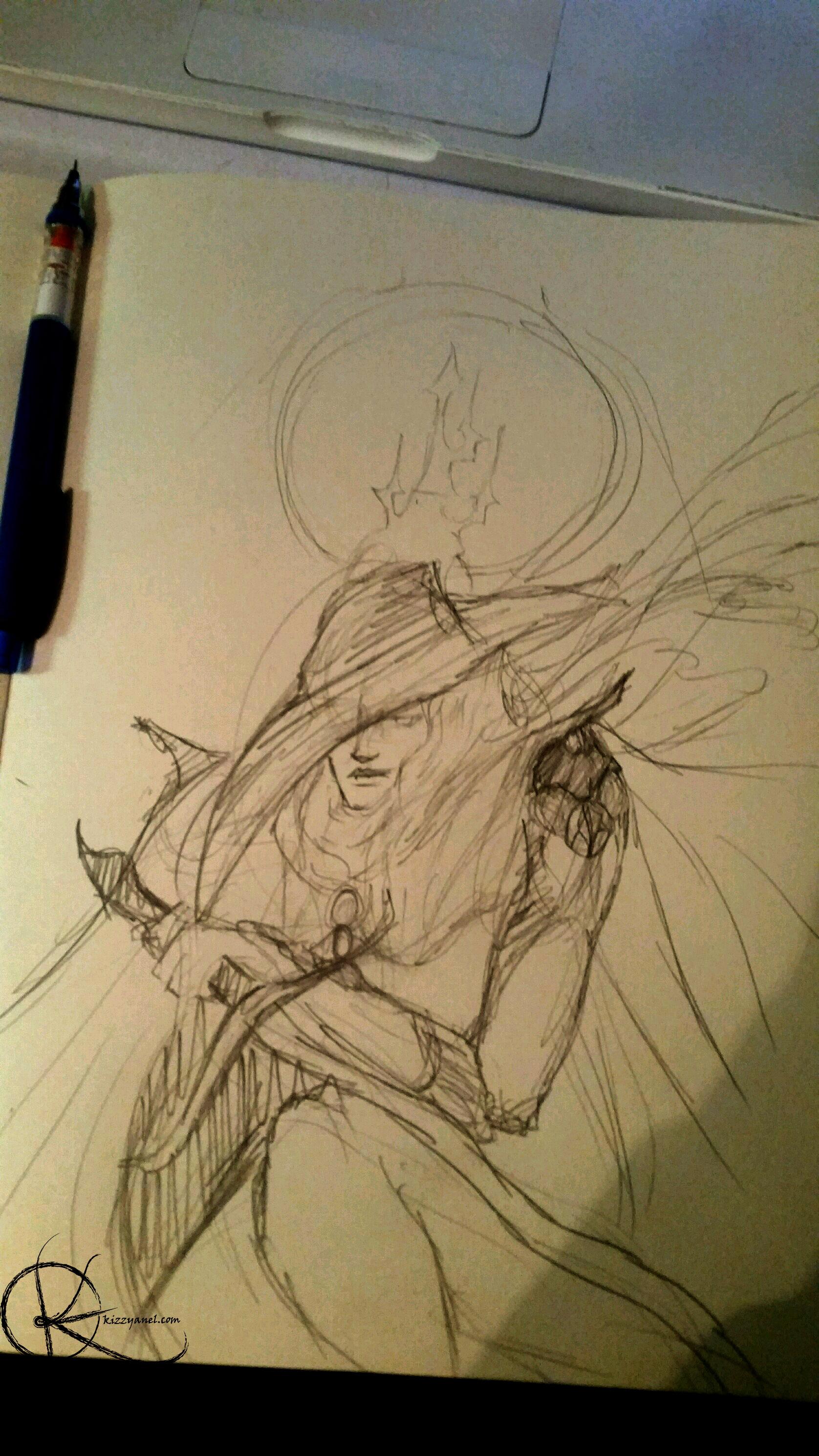 WIP Cape sketch