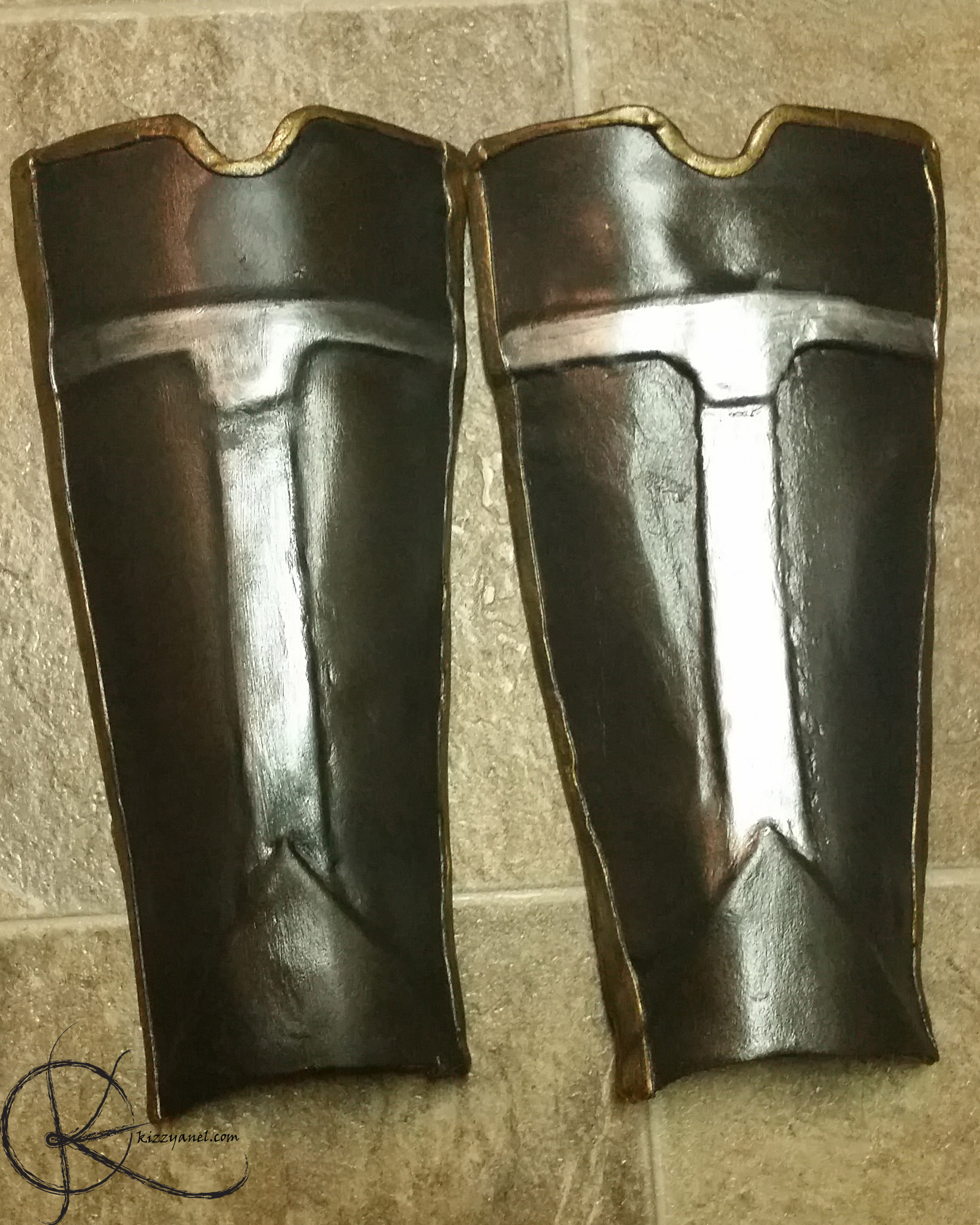 Shin guards weathered vs fresh paint