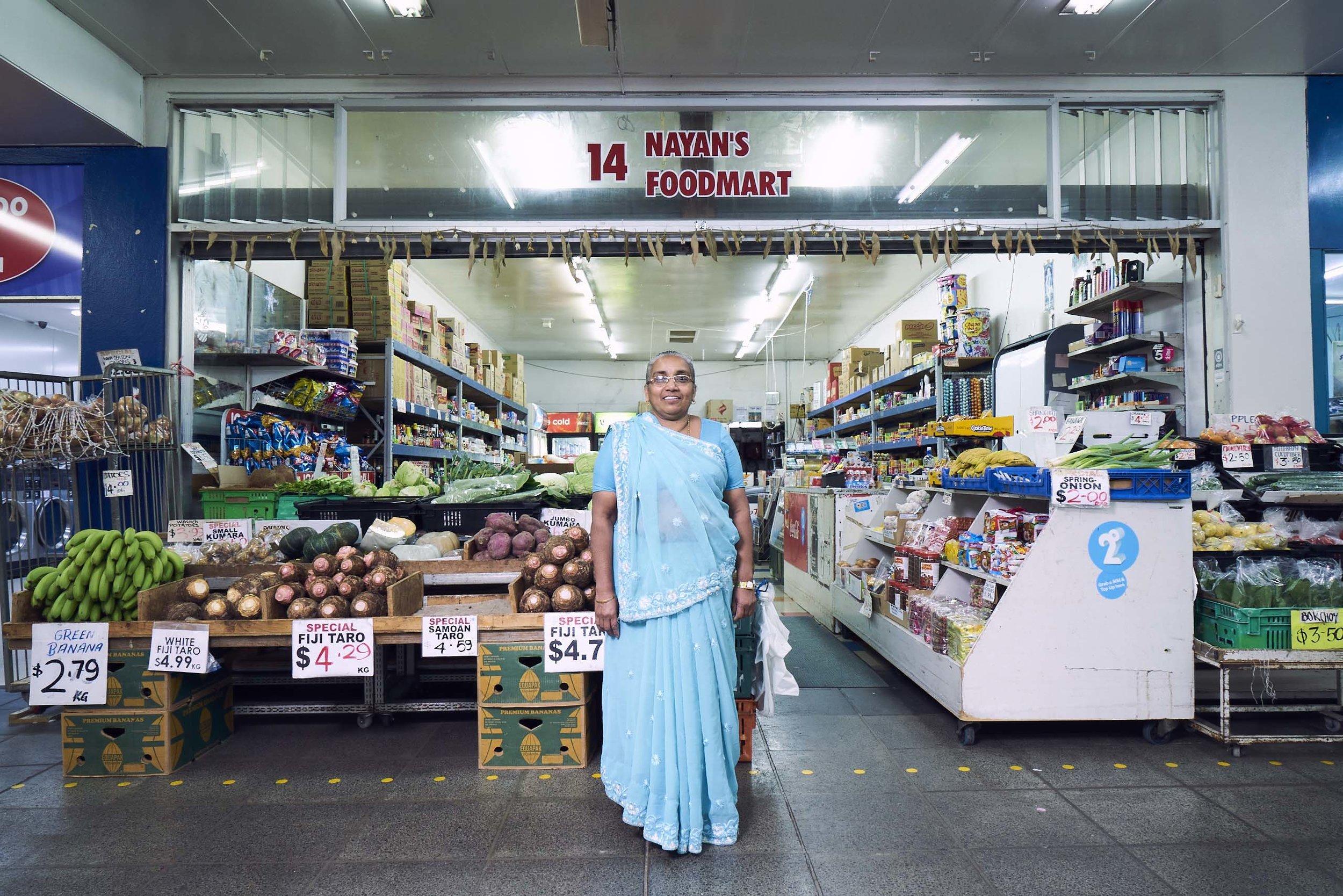 Kusum Kanji, Nayan's Food Mart, 2018 by Vinesh Kumaran