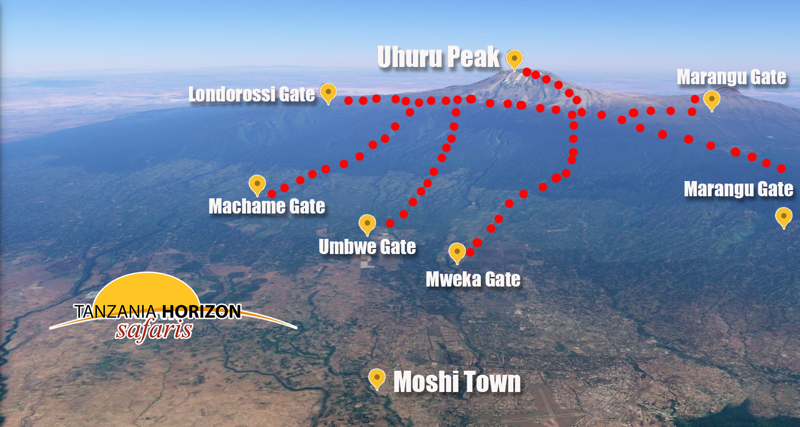 Kilimanjaro with Moshi Town in the front / by GOOGLE