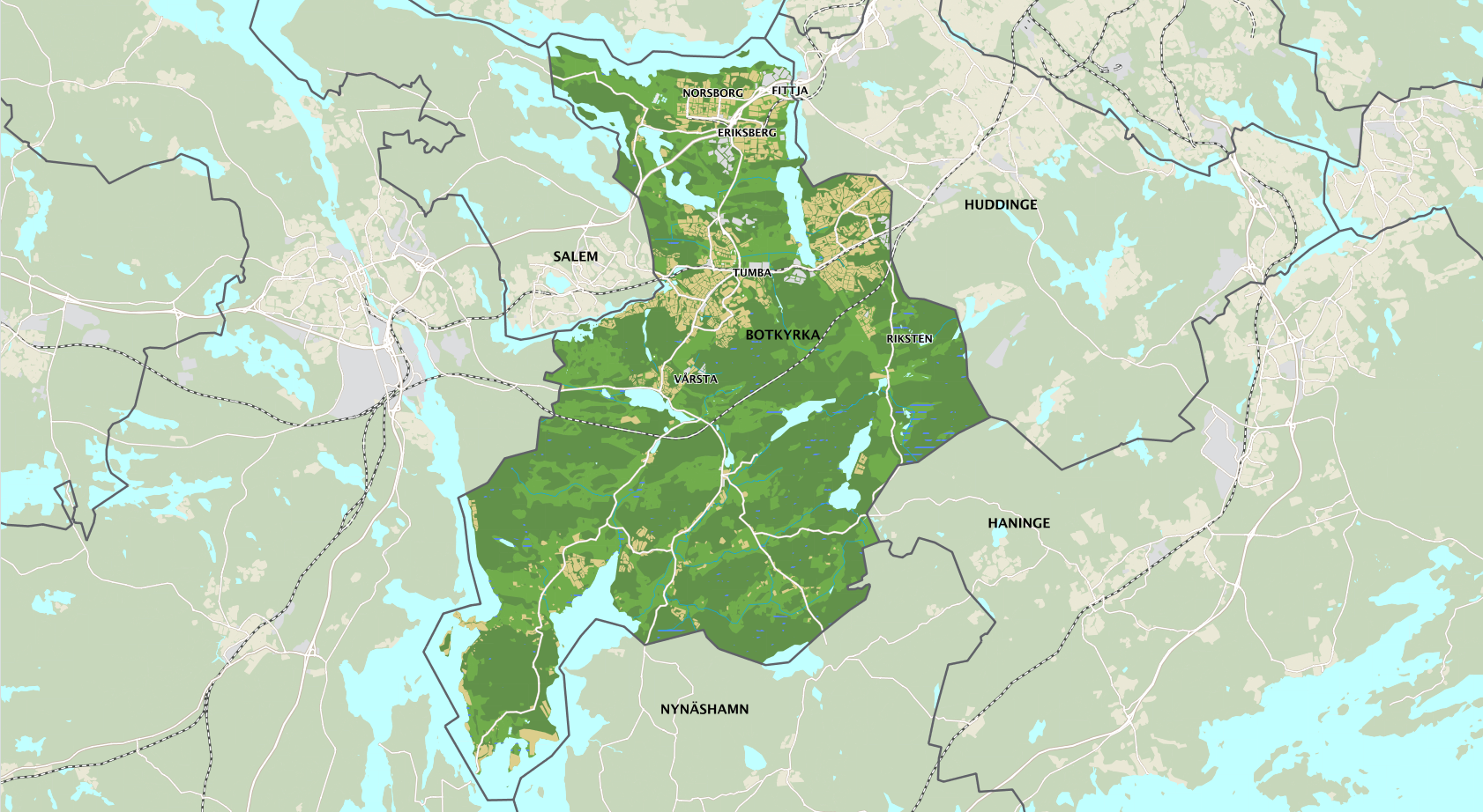 Webbkarta - Botkyrka kommuns externa webbkarta