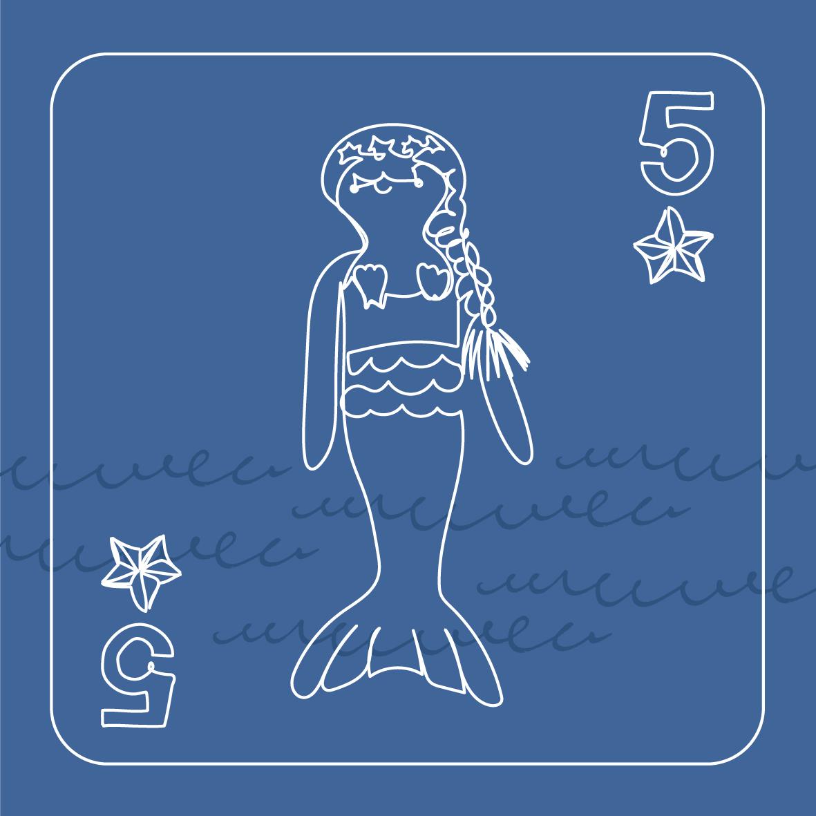 5 mermaids swimming