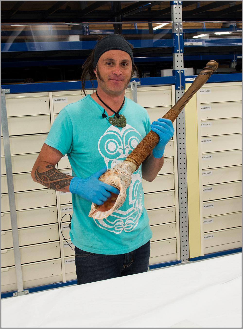 Shane James who is a Kaitiaki Taonga Māori (Guardian of our treasures)