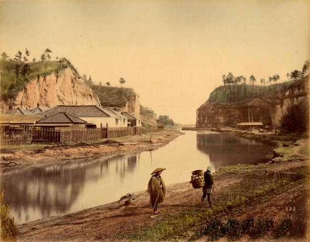 canal, Yokohama, 1880 - Kusakabe Kimbei