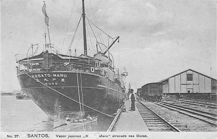 The kasato-maru brought the first Japanese immigrants to Brazil in 1908