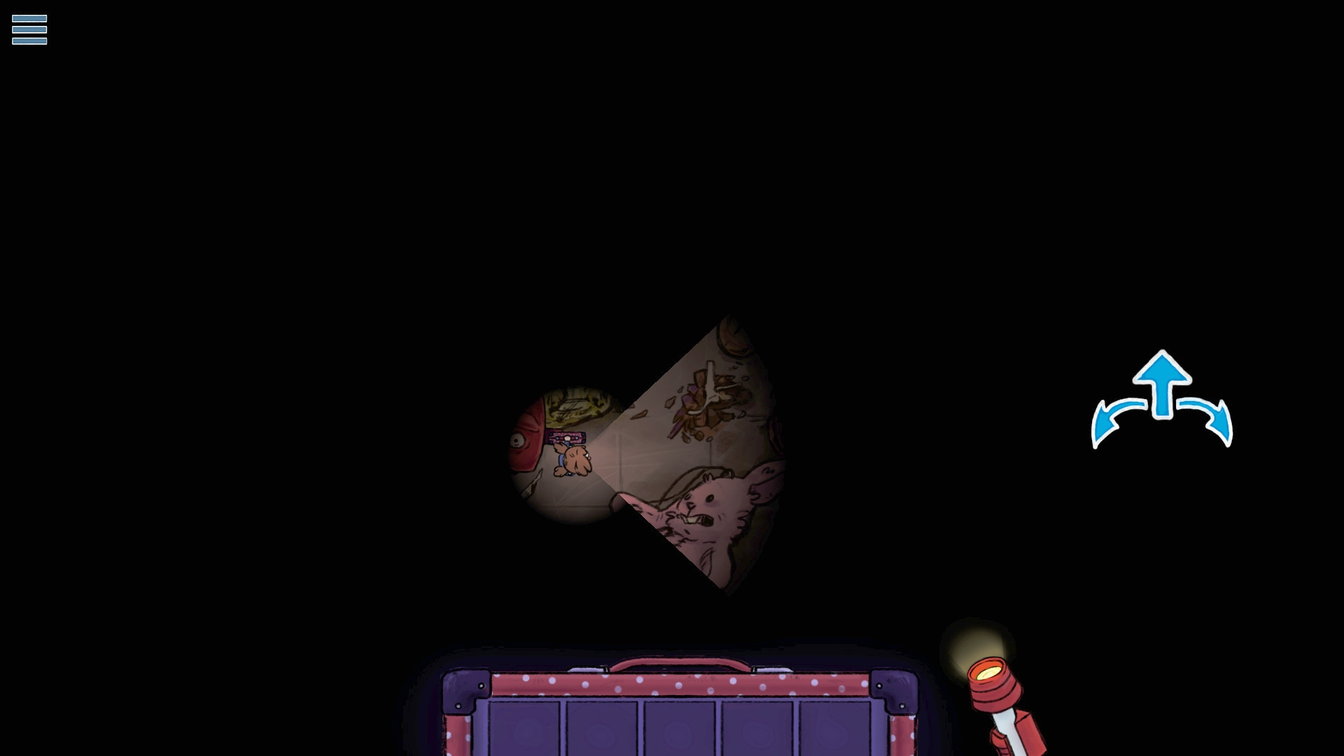 In-game view from the Ratmaze puzzle