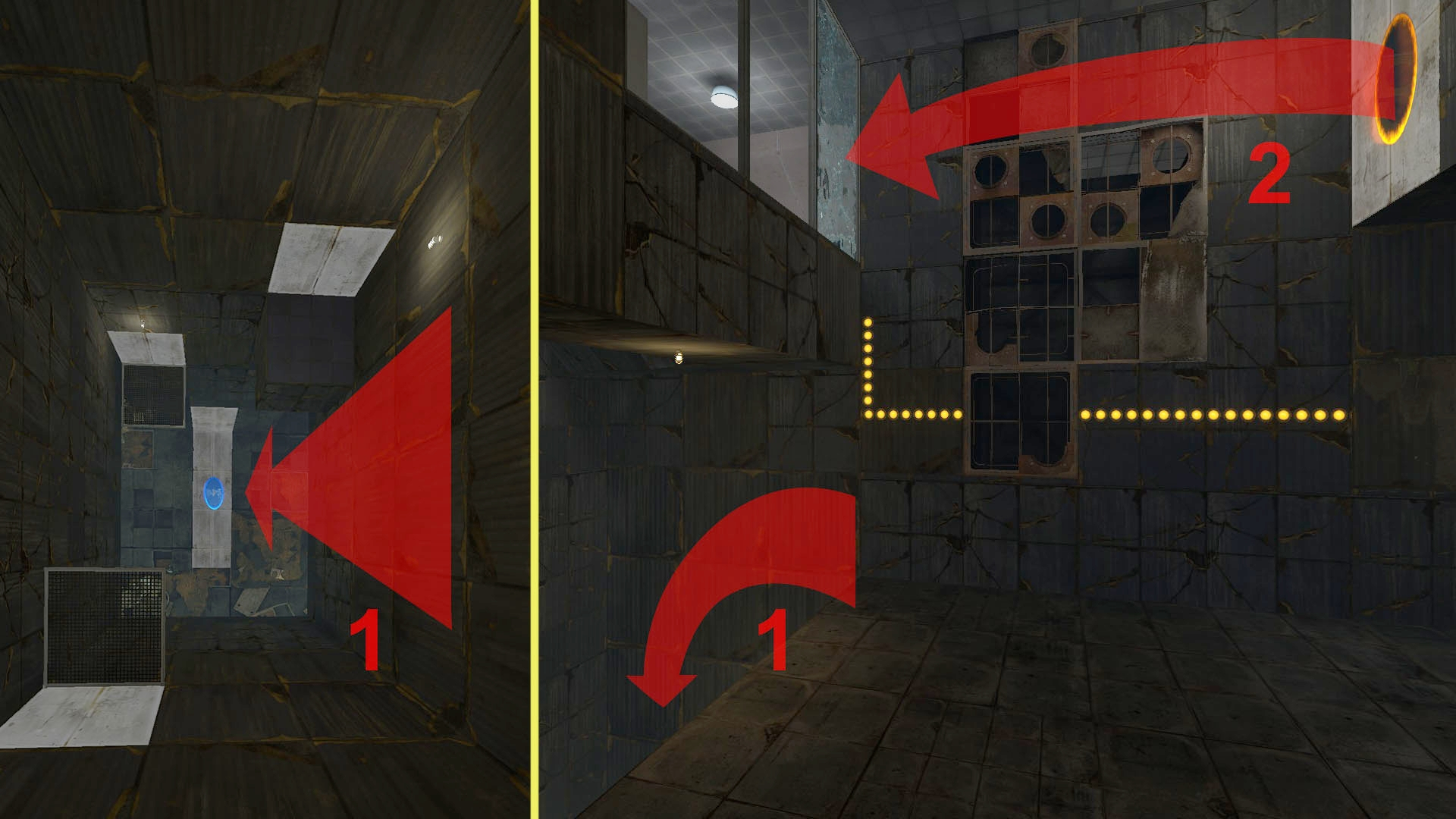 Using gravity makes the puzzles more intuitive and enabled re-use of areas