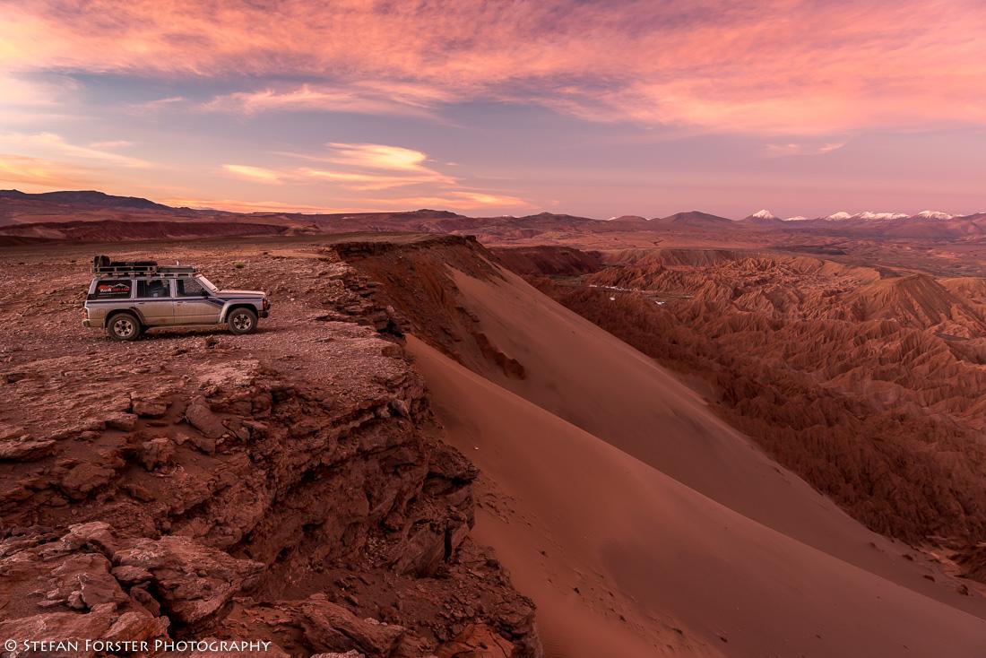 ein erster Campingplatz in der Atacama Wüste - direkt über dem Valle de la Muerte