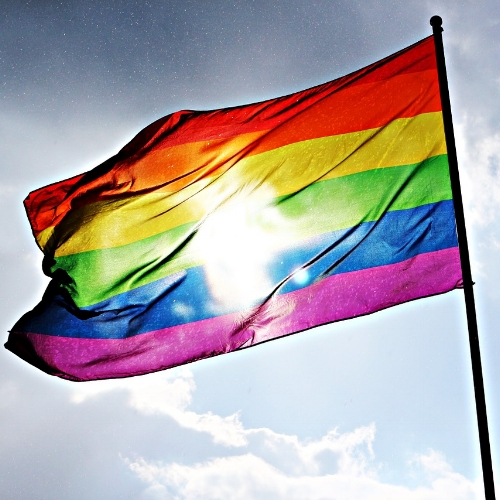I mean, we can't carry rainbow flags with us everywhere...