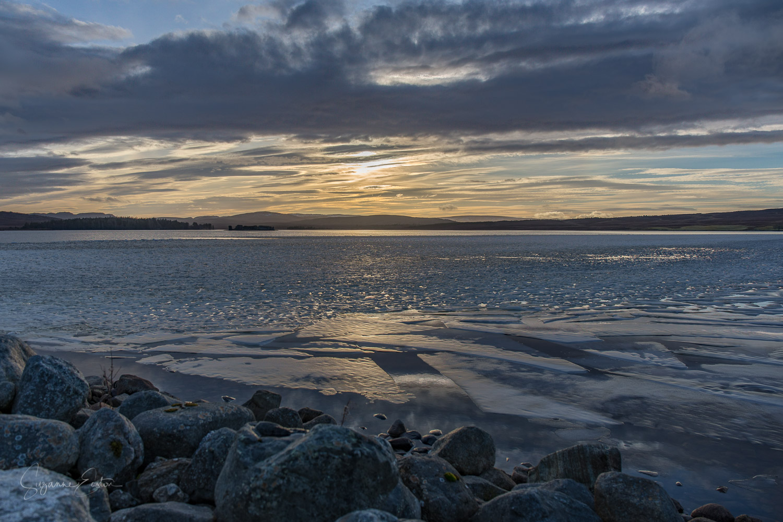Sunset over Lochindorb