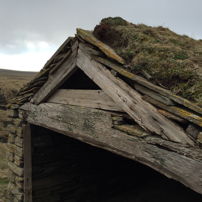 Wooden Fishermans hut at Marwick