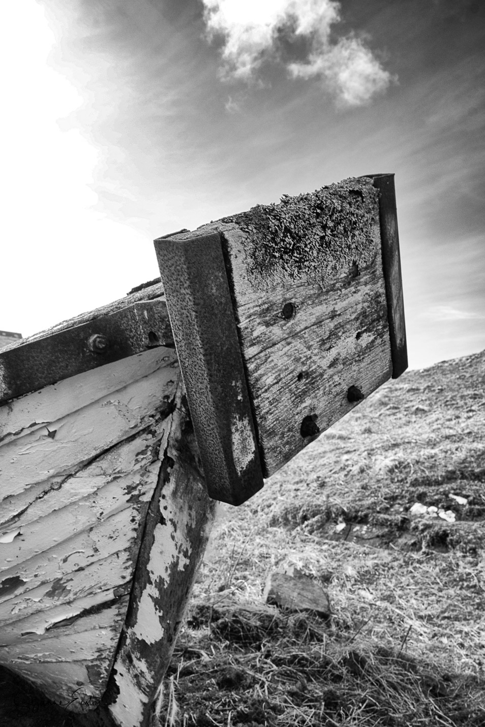 Isle of Lewis wrecked boat