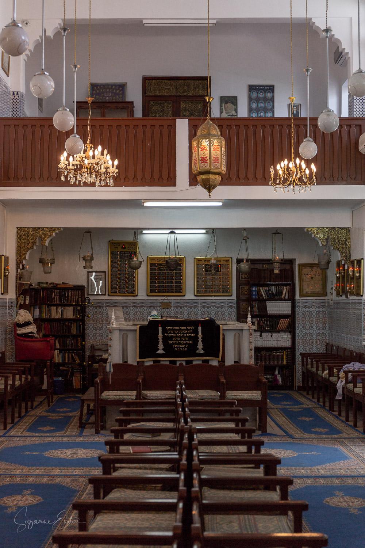 The main synagogue at Lazama in Marrakech