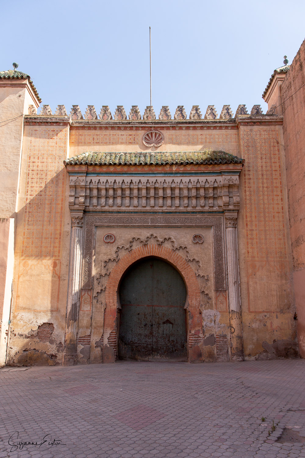 The gateway to El Badi Palace in Marrakech