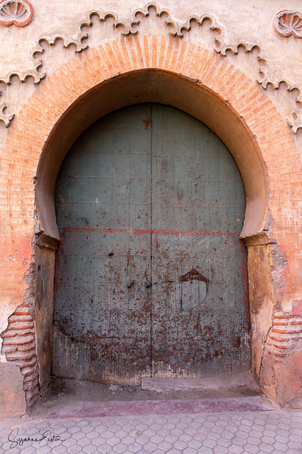 A door on the wall of the El Badii Palace in Marrakech