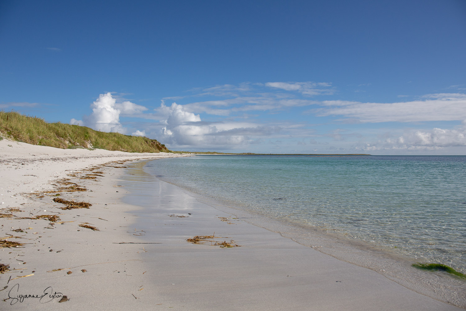 The wide sweeping bay of Otterswick on Sanday in Orkney