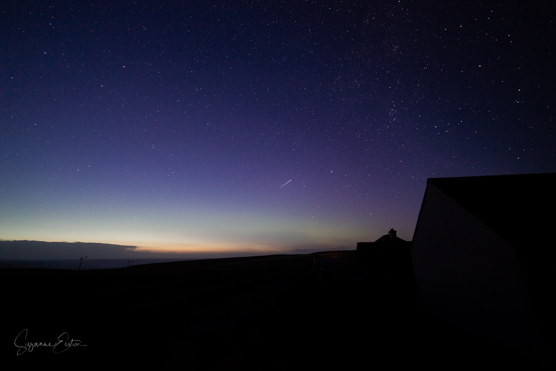 Aurora borealis with perseid