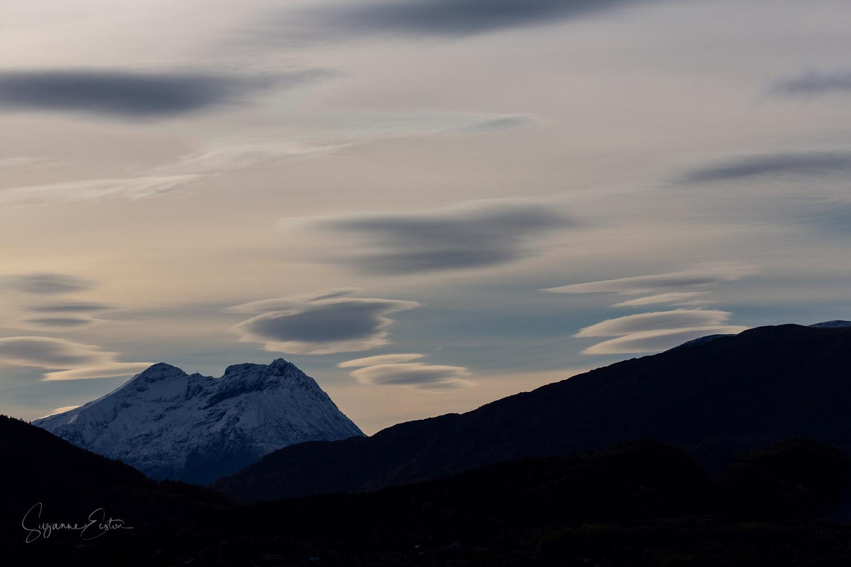 Lenticular clouds in Norway