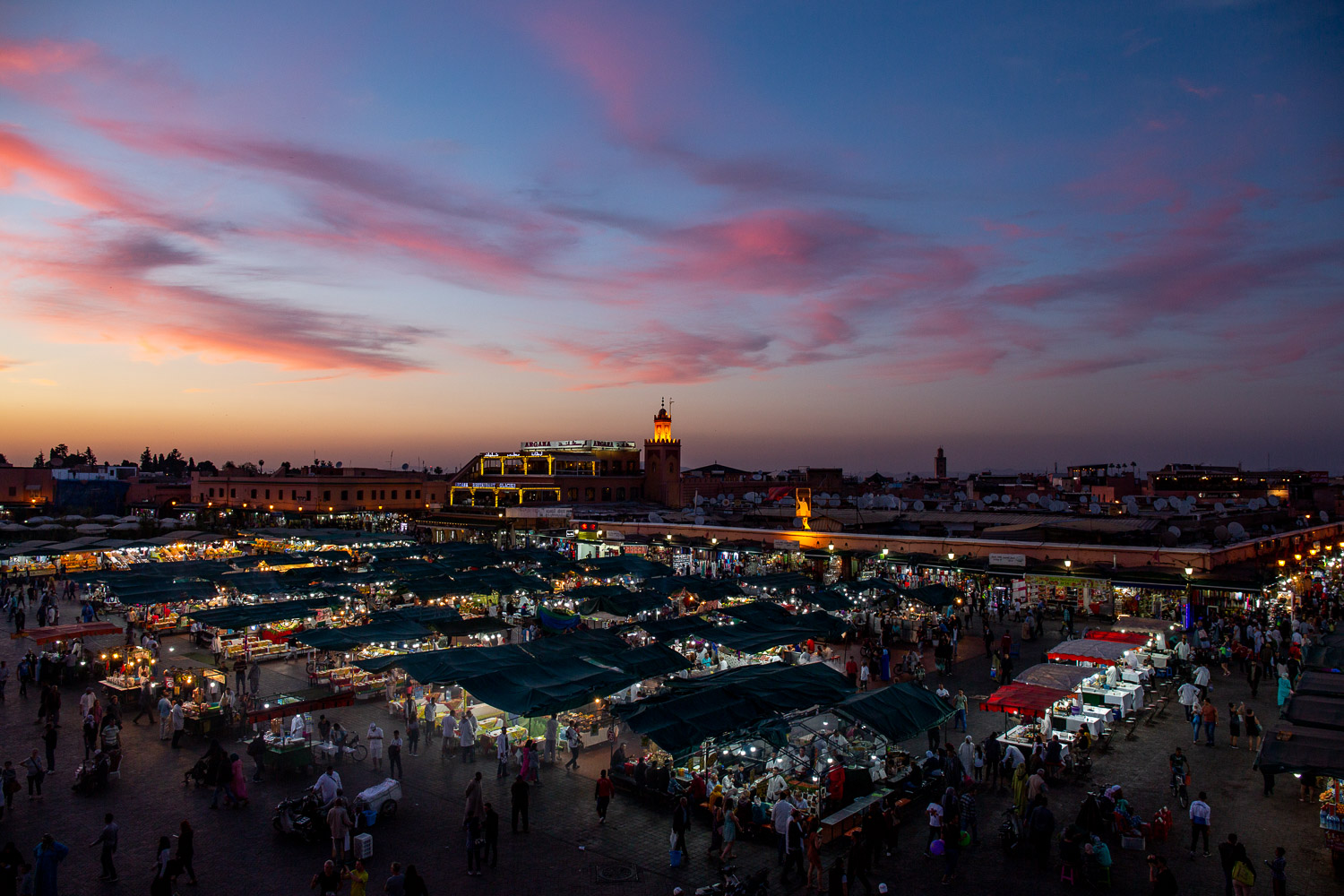 Sunset over Marrakech