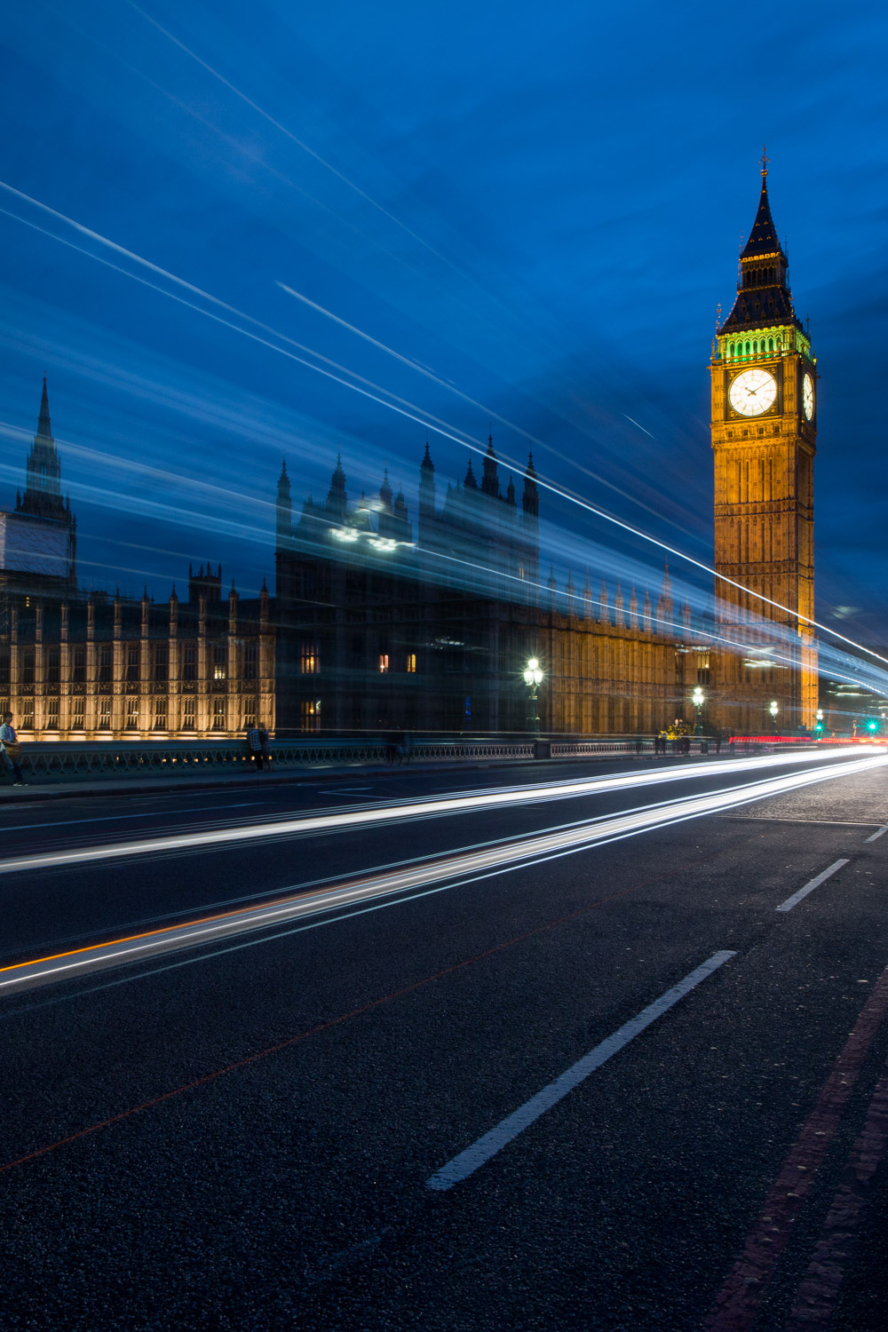 White Light Trails at Westminster