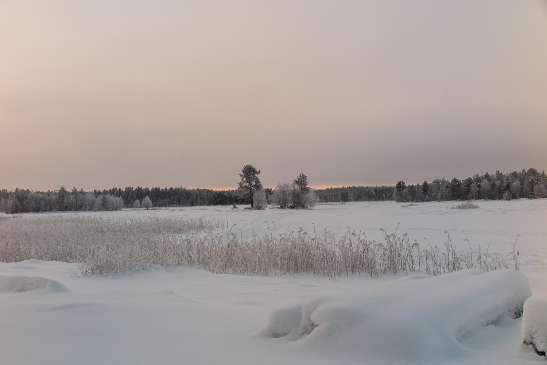 Jyrävänjärvi Lake in winter