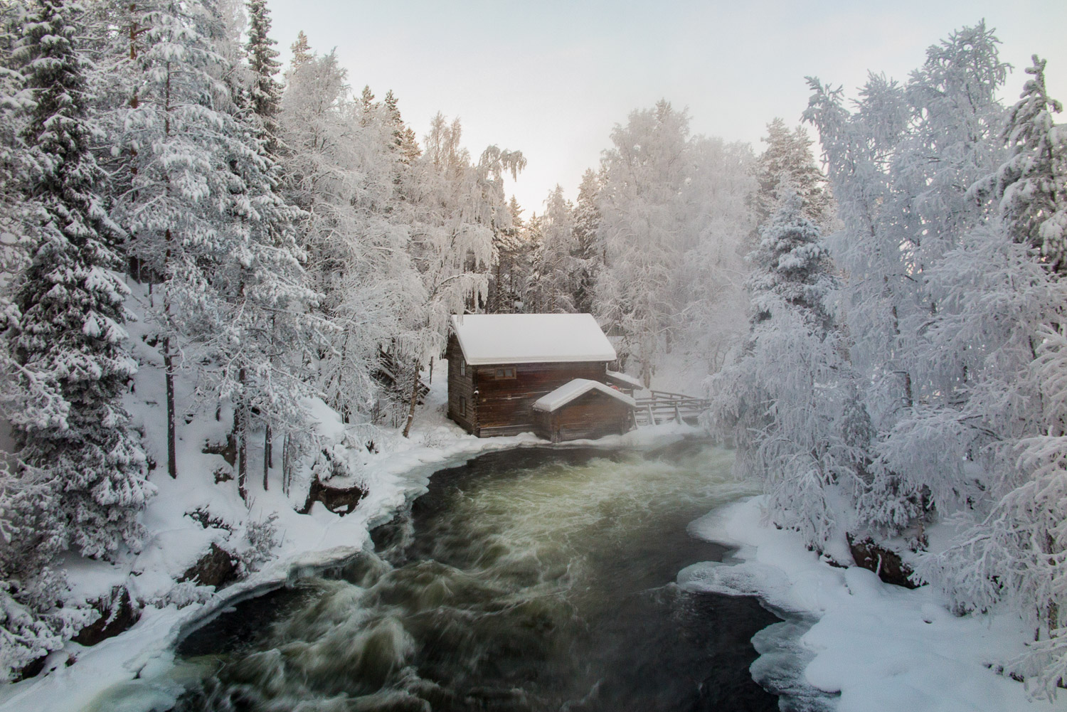 Myllykoski Mill and rapids in Oulanka National Park