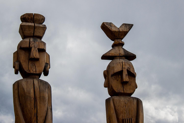 Mapuche figures Bariloche