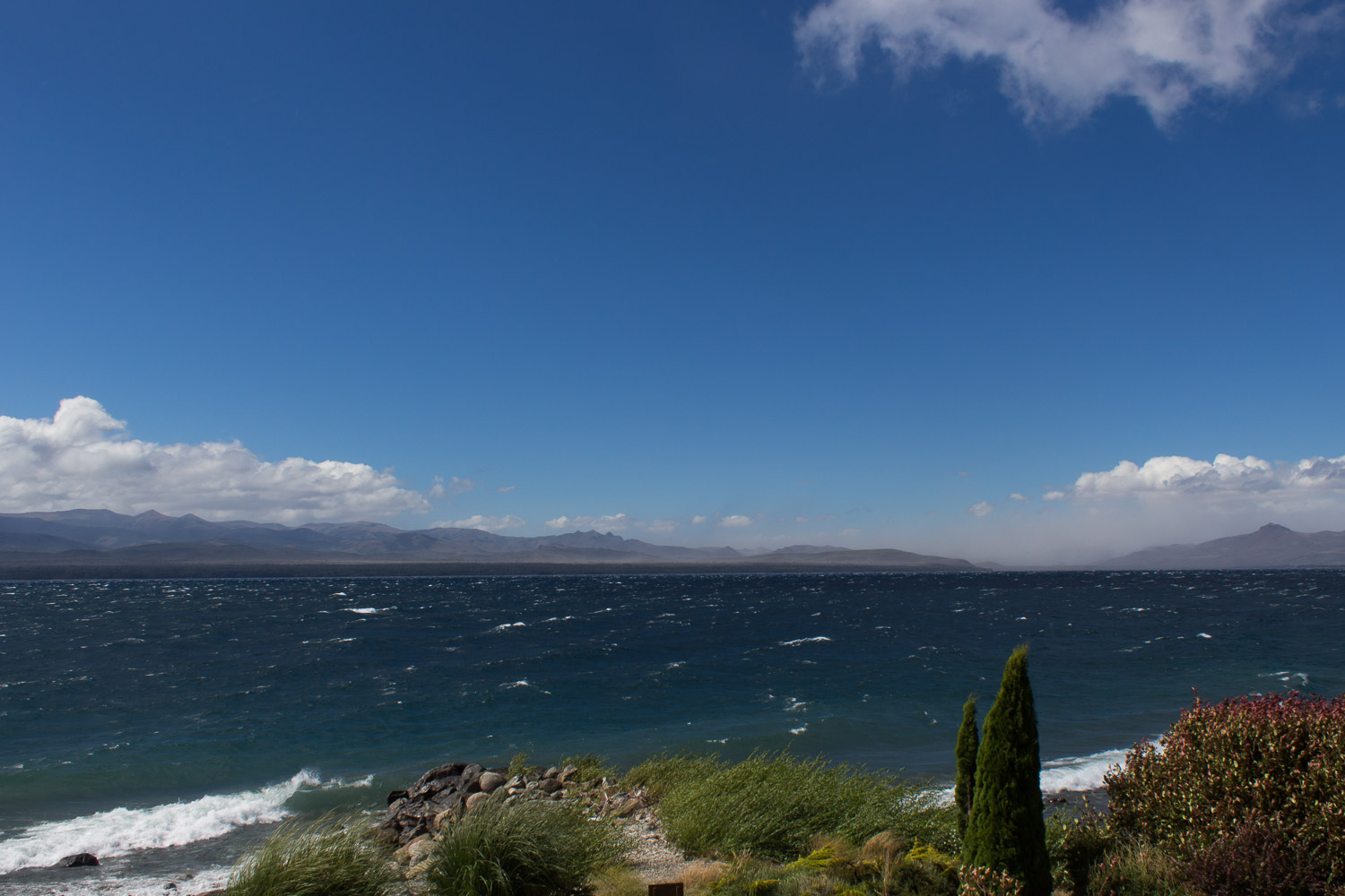 Bariloche on a windy day