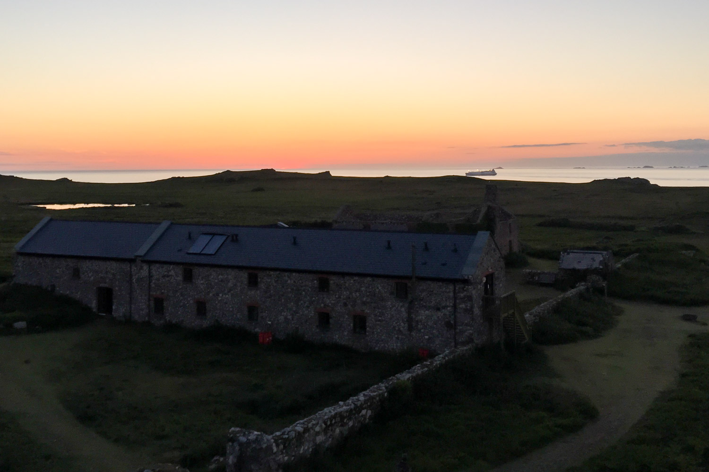 Sunset over Old Farm on Skomer Island