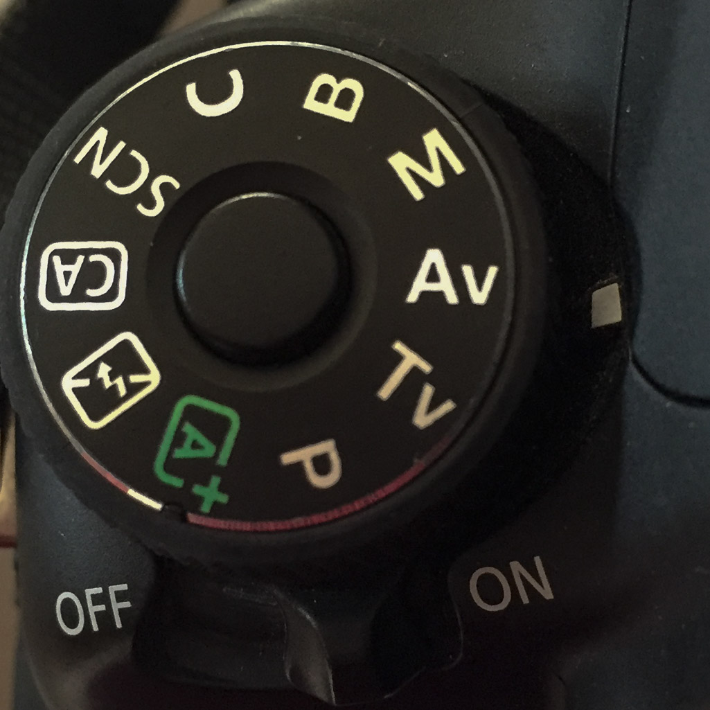 Aperture priority mode on a canon camera