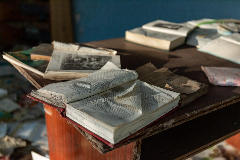Books and a desk