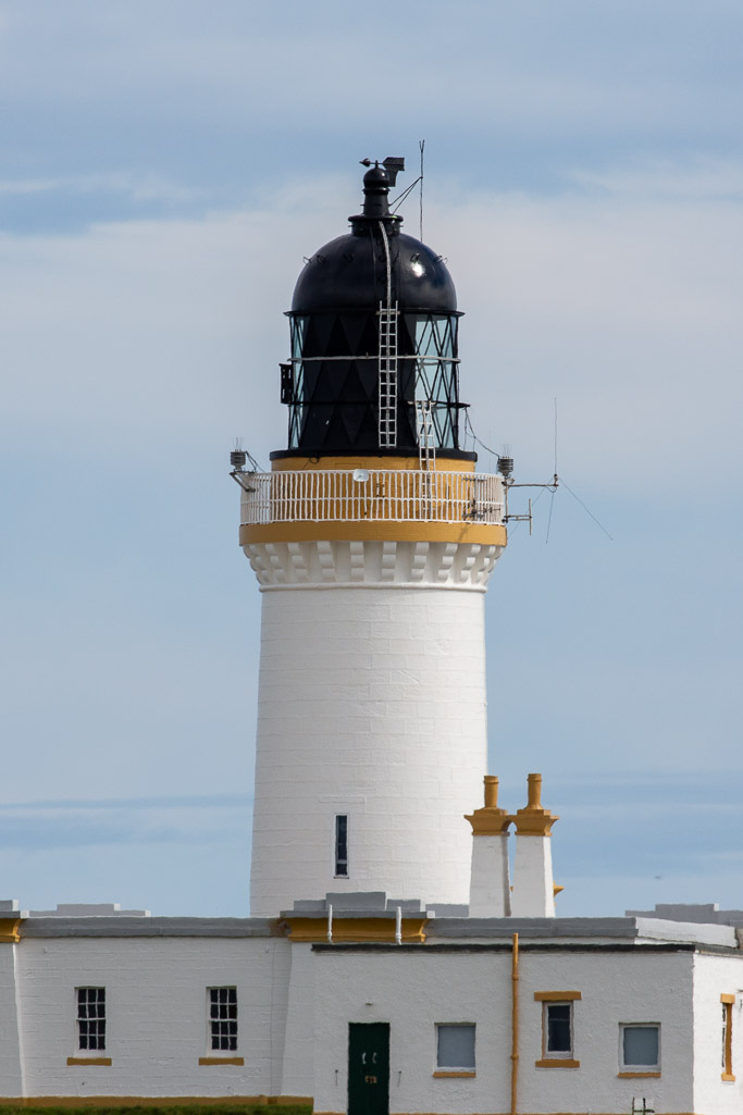 Noss Head Lighthouse in Caithness near Wick.