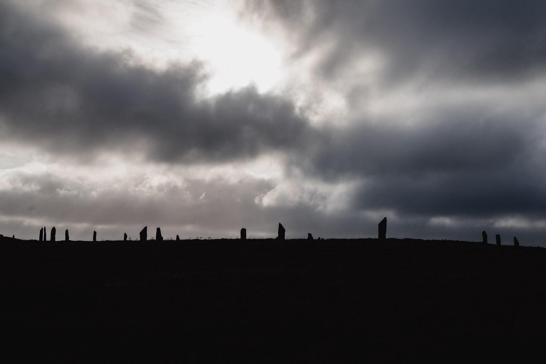 Stormy skies over Brodgar