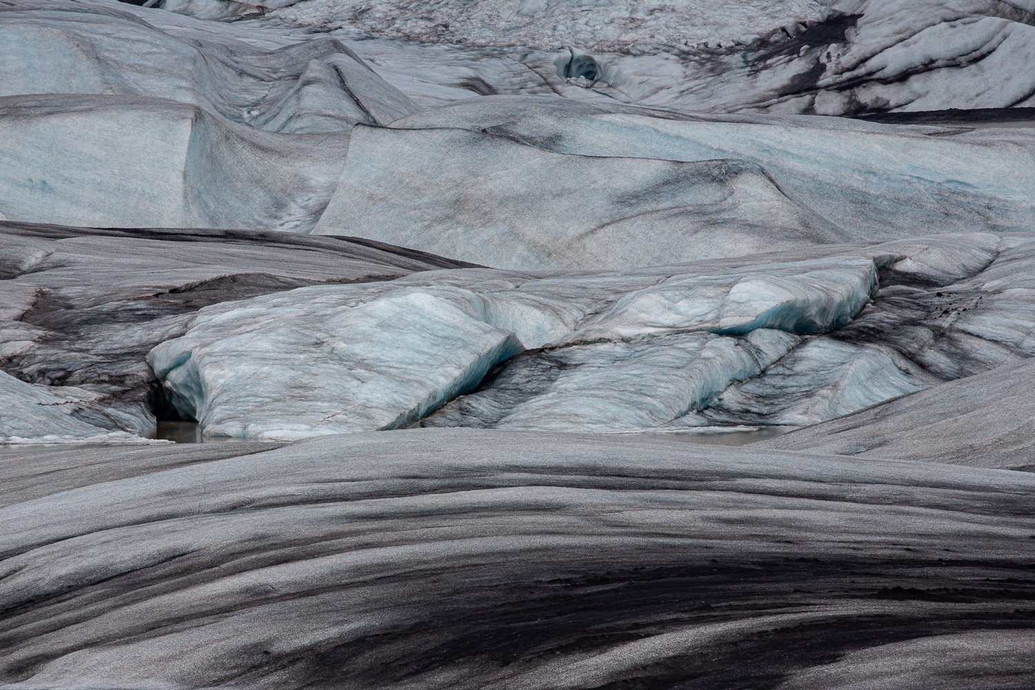 Stripped ice