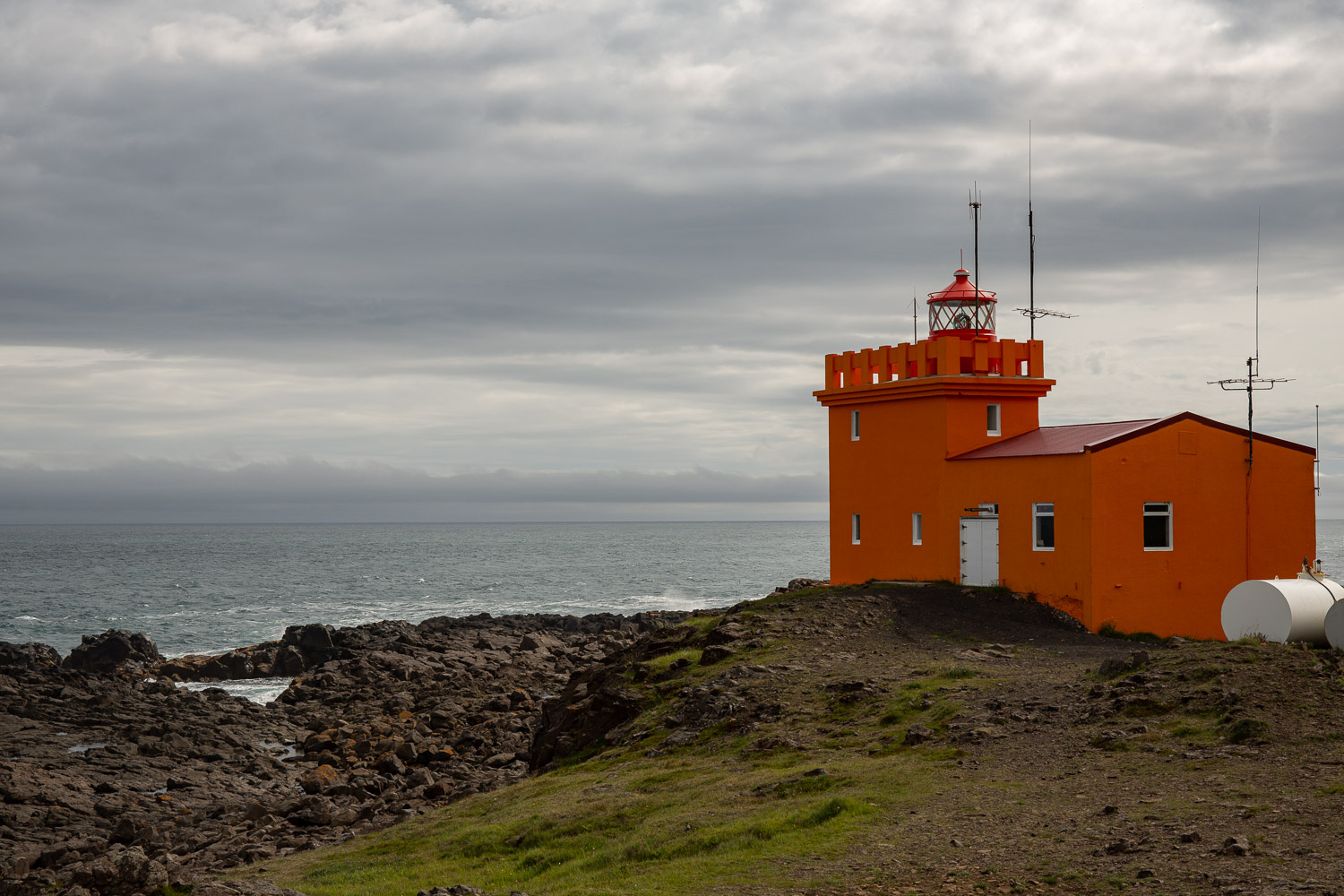 Delatangi lighthouse the most easterly in Iceland
