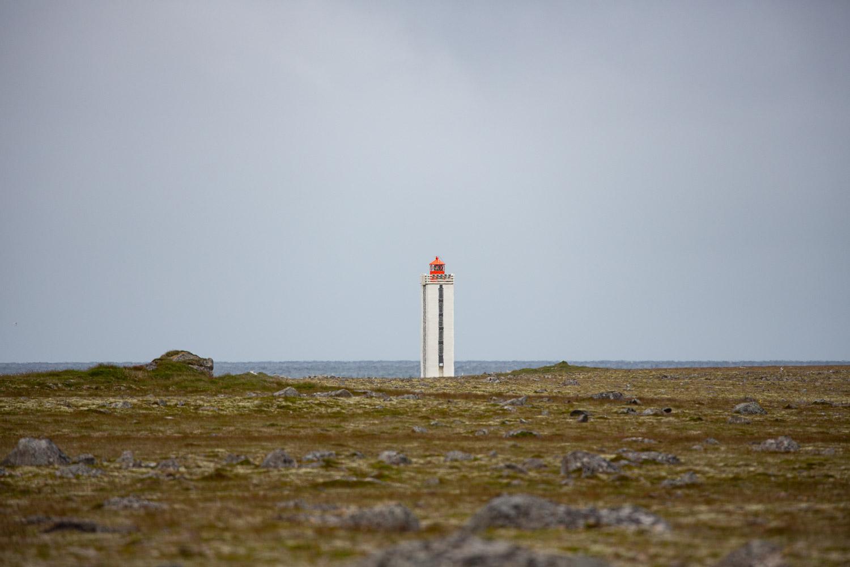 Hraunhafnartangi lighthouse the furthest north in Iceland