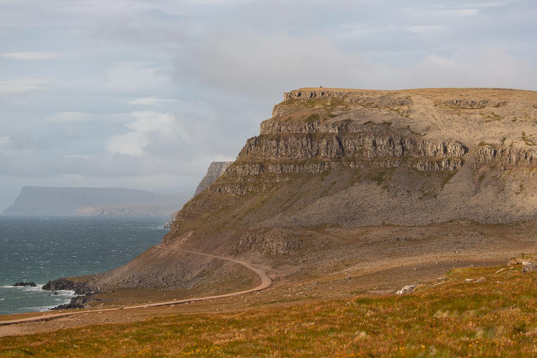 The road from Latrabjarg bird cliffs