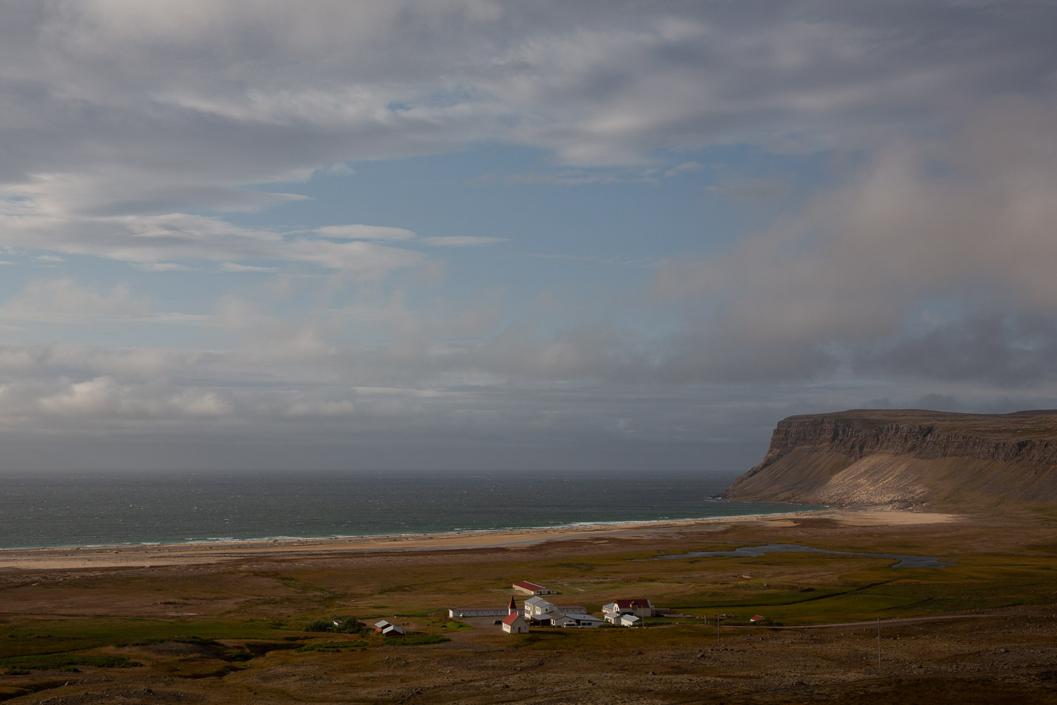 The village of Hvallátur in the west of Iceland