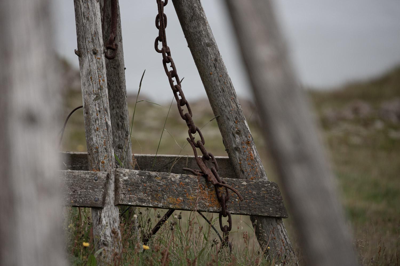 Chain and wood