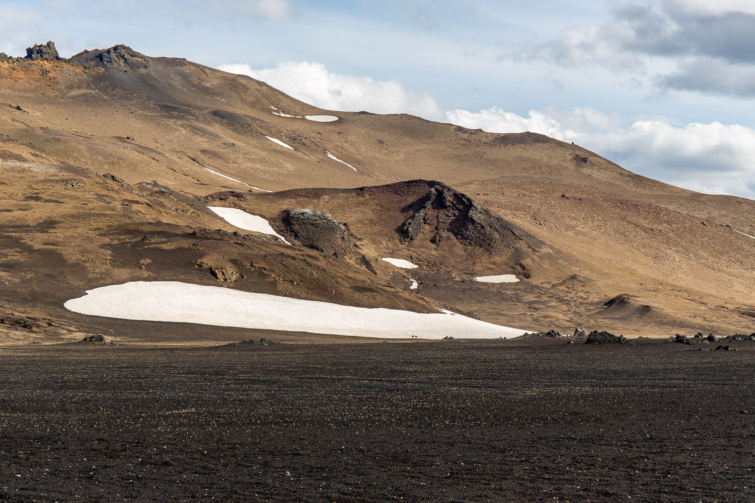 Crater and snow