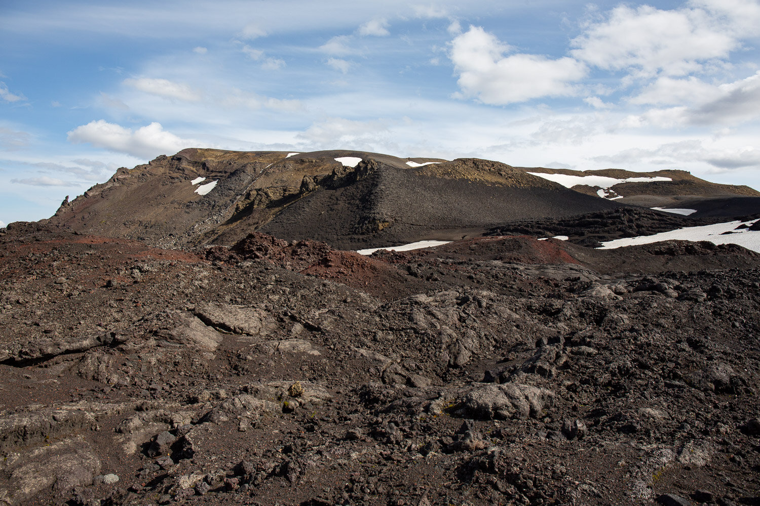 Lava and craters