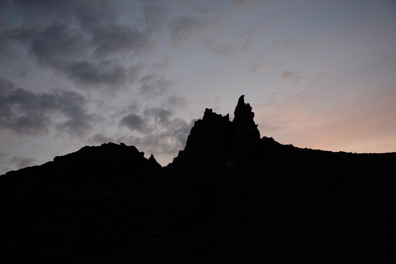 Sunset over Nautagil