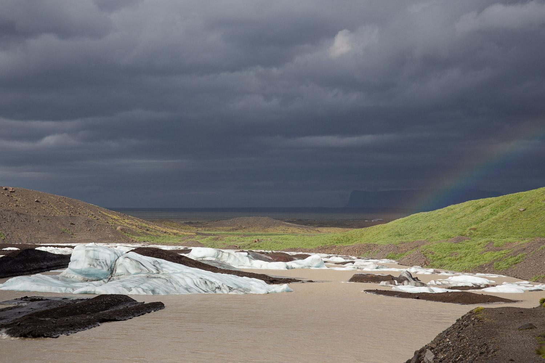 Rainbow over Svínafellsjökull