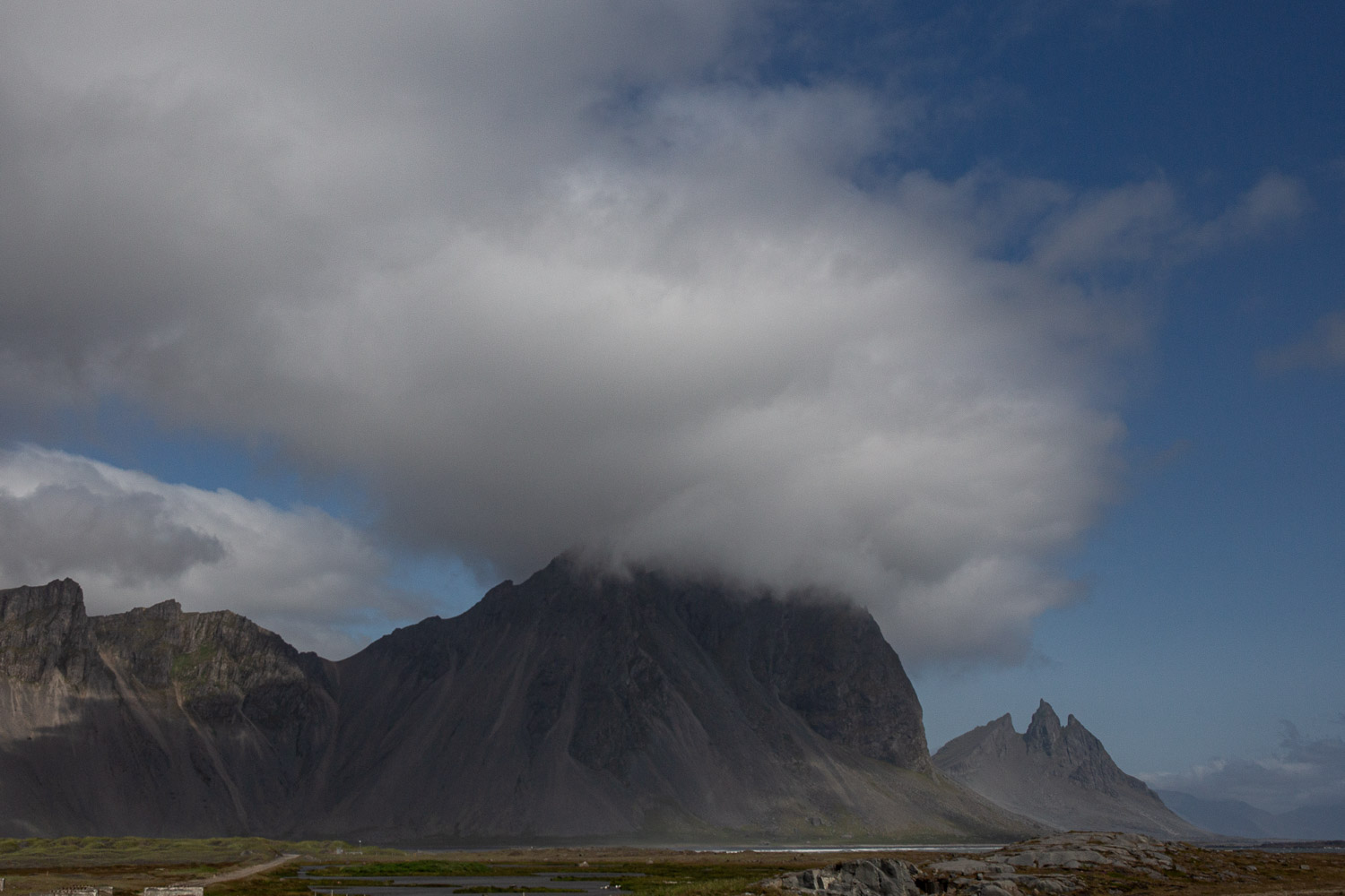 Brunnhorn on the far right peaking out behind Vestrahorn