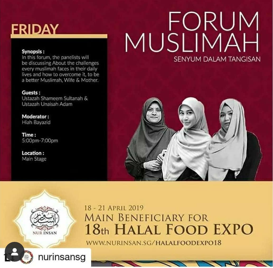 Copy of Forum Muslimah- Halal Food Expo X Nur Insan