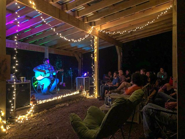 I love being able to just share the stories behind my songs just as much as the songs themselves.  Shoutout to @hatchcampandartfarm for providing songwriters with a platform to do just that. Also, shoutout to everyone who came out and braved the rain with us this weekend. #lifeisinthesong #singersongwriter #acoustic #livemusic #originalmusic